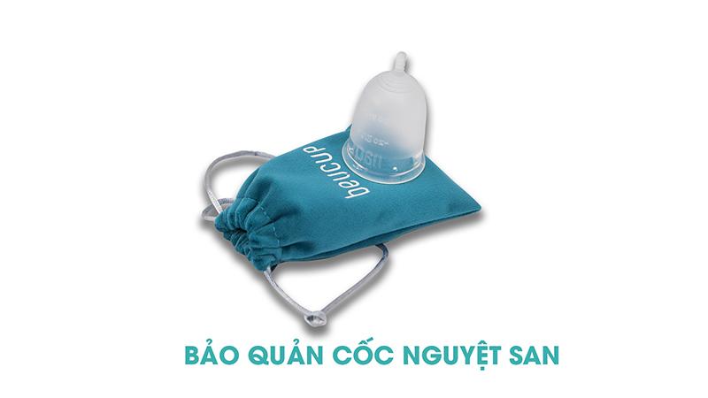 Bảo quản cốc nguyệt san trong túi vải velvet