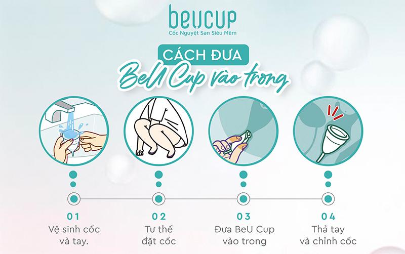 Cách đặt cốc nguyệt san an toàn