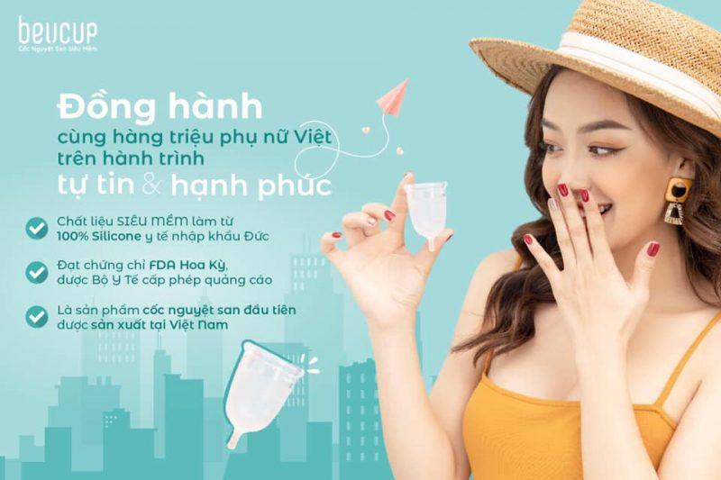 thương hiệu cốc nguyệt san Việt - BeUcup