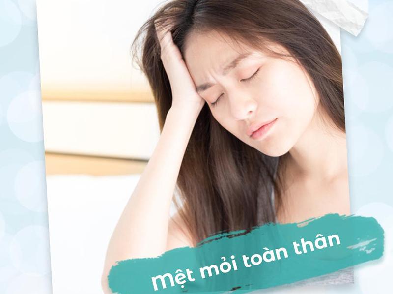 Các triệu chứng khi đến kỳ kinh nguyệt mệt mỏi khó ngủ