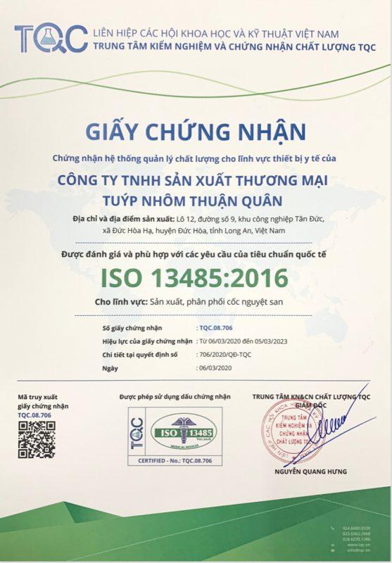 Cốc nguyệt san BeUCuo đạt chứng chỉ ISO 13485