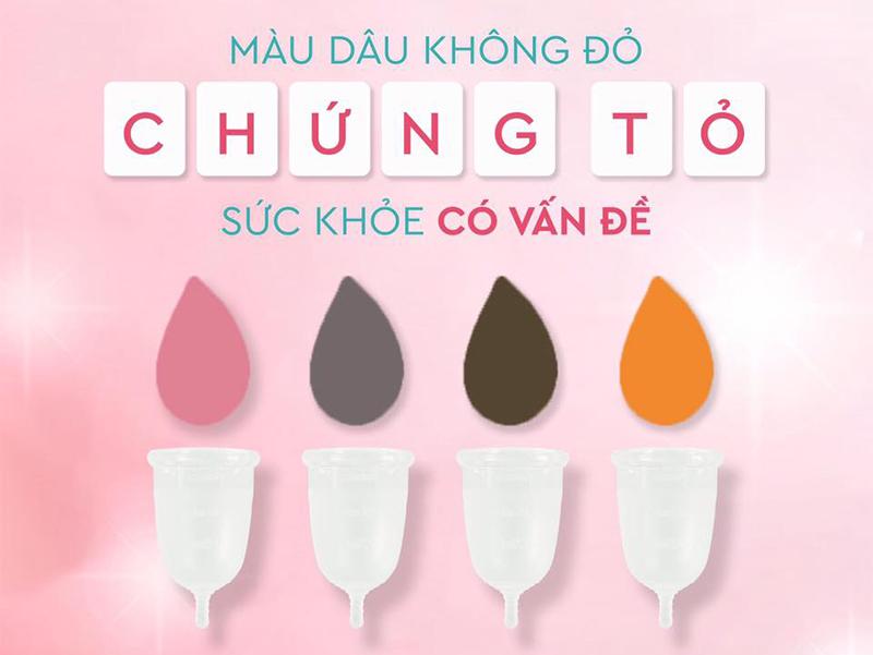Màu sắc kinh nguyệt nói nên sức khỏe của bạn