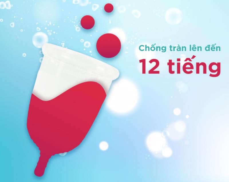 cấu tạo cốc nguyệt san BeUcup giúp chống tràn đến 12 tiếng
