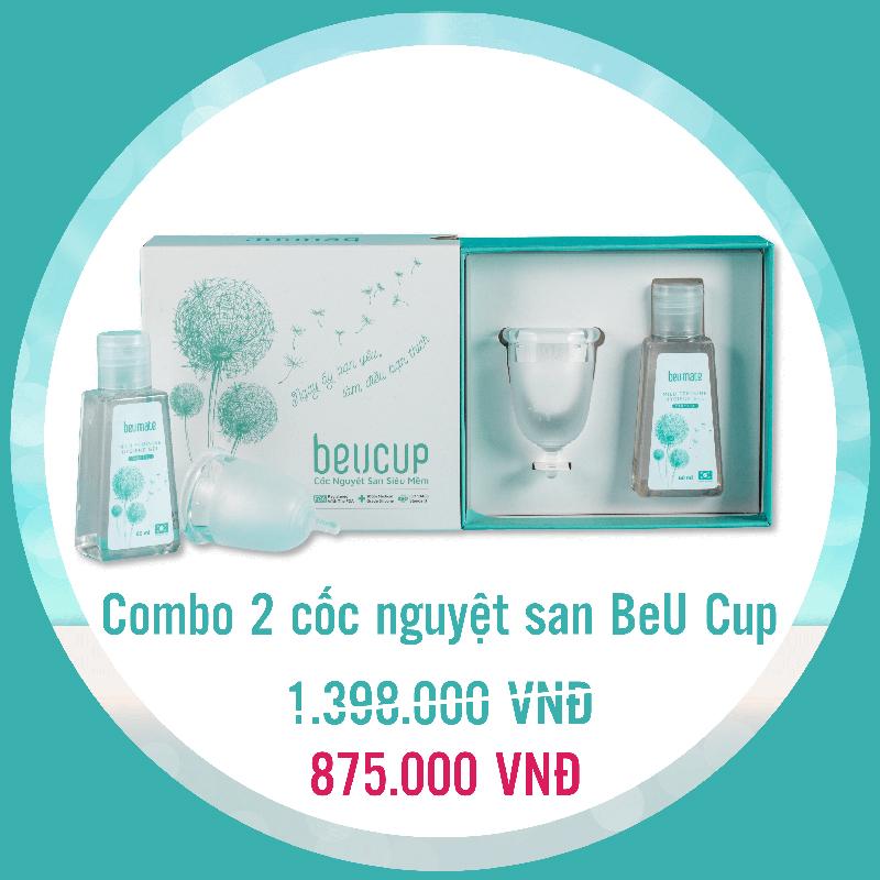 Combo 2 cốc nguyệt san BeUcup chỉ với 875.000 VNĐ