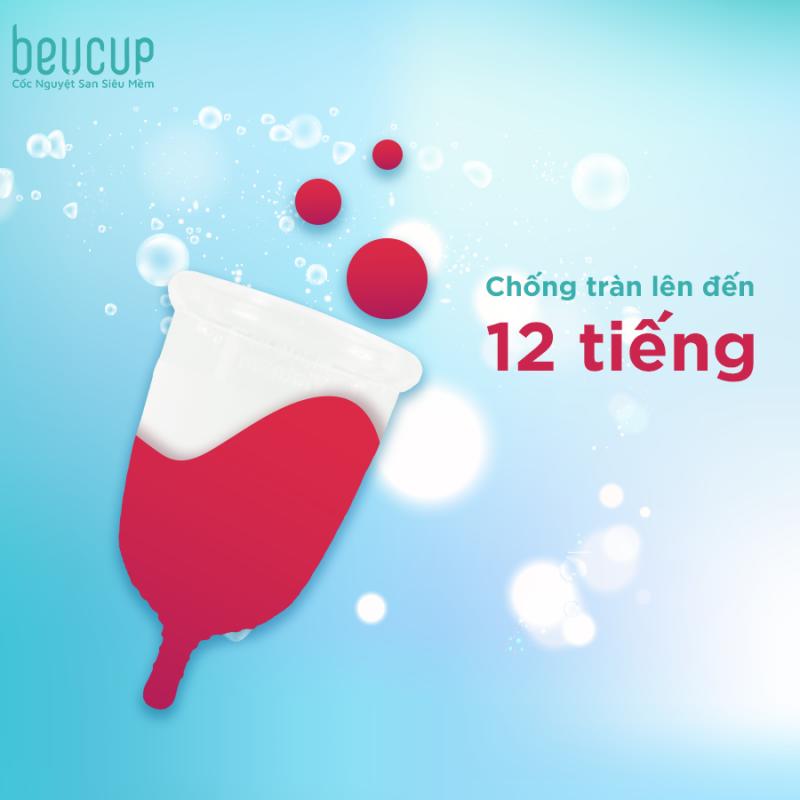 Thời gian sử dụng cốc nguyệt san BeU Cup lên tới 12 giờ